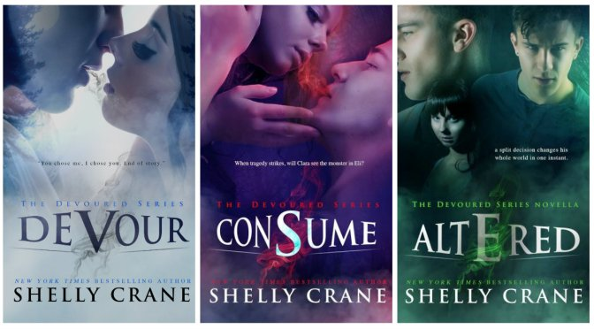Cover Reveal & Giveaway: DEVOURED SERIES by Shelly Crane