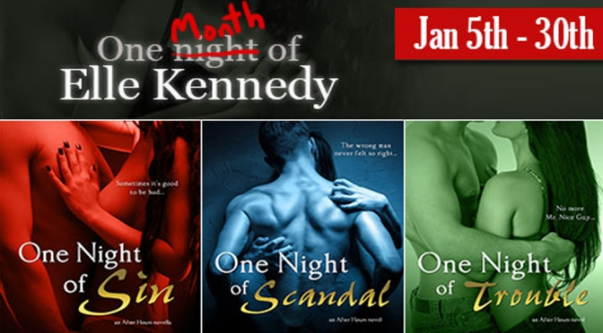 Review & Giveaway: ONE NIGHT OF SCANDAL by Elle Kennedy