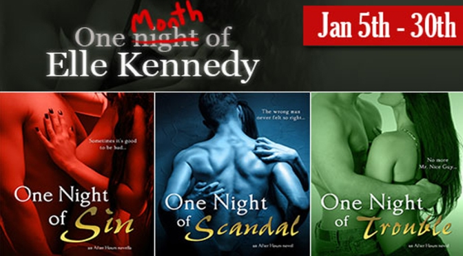 ARC Review & Giveaway: ONE NIGHT OF TROUBLE by Elle Kennedy